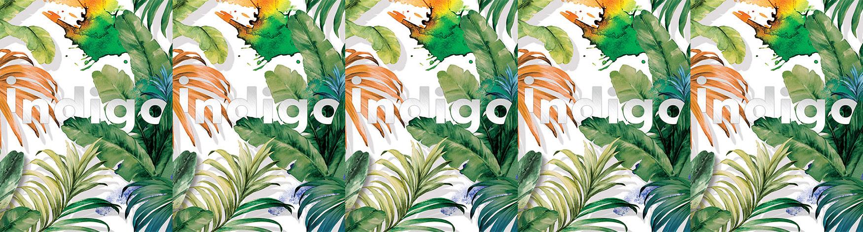 Tapet tropical Adawall Indigo
