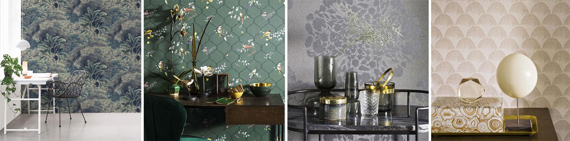 Tapet decorativ vinilic lavabil texturat colectia Christian Fischbacher
