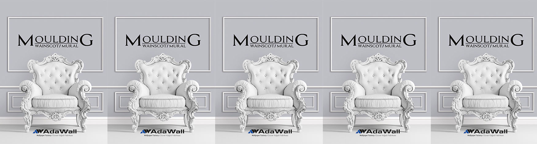 Fototapet lavabil vinilic Moulding Mural